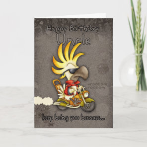 Birthday Card - Uncle Birthday Card - Cockatoo Bir