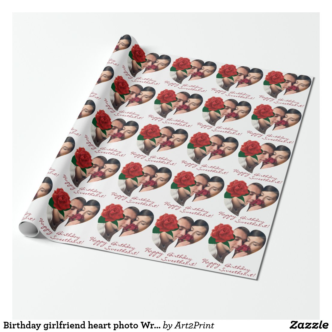Heart photo Wrapping Paper