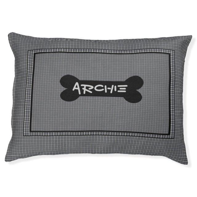 Black And Grey Custom Indoor Dog Bed
