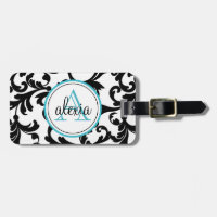 Monogrammed Travel Bag Tags