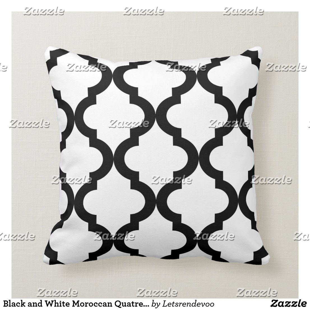 Black and White Moroccan Quatrefoil