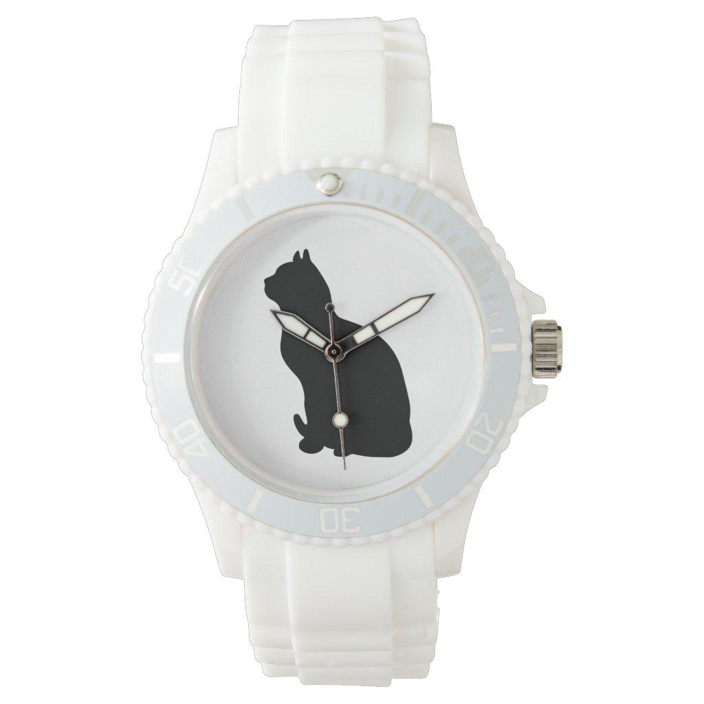 Cat silhouette watch