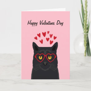 Black Cat Valentines Card Love Cats