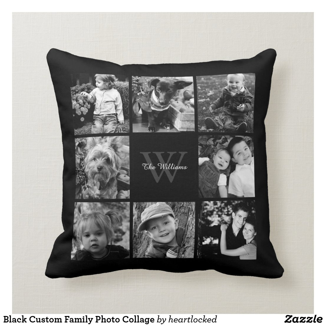 Custom Family Photo Cushion
