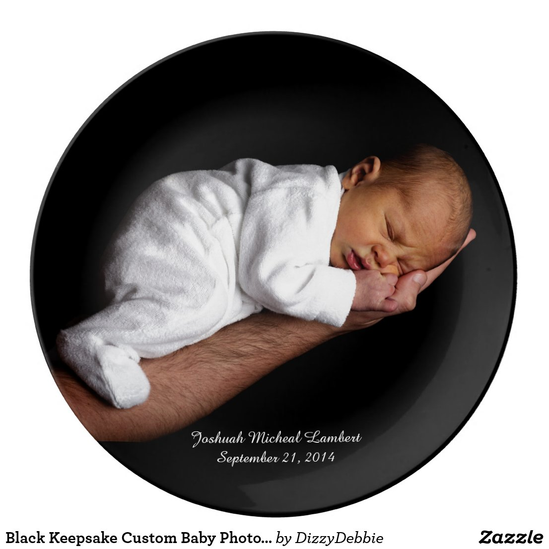 Keepsake Custom Baby Photo Plate