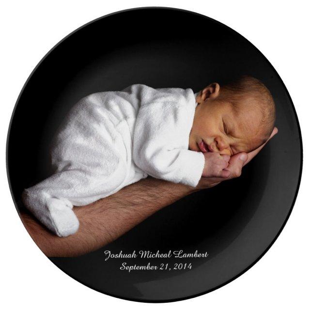 Keepsake Custom Baby Photo Plate