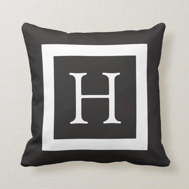 Black White Custom Monogram