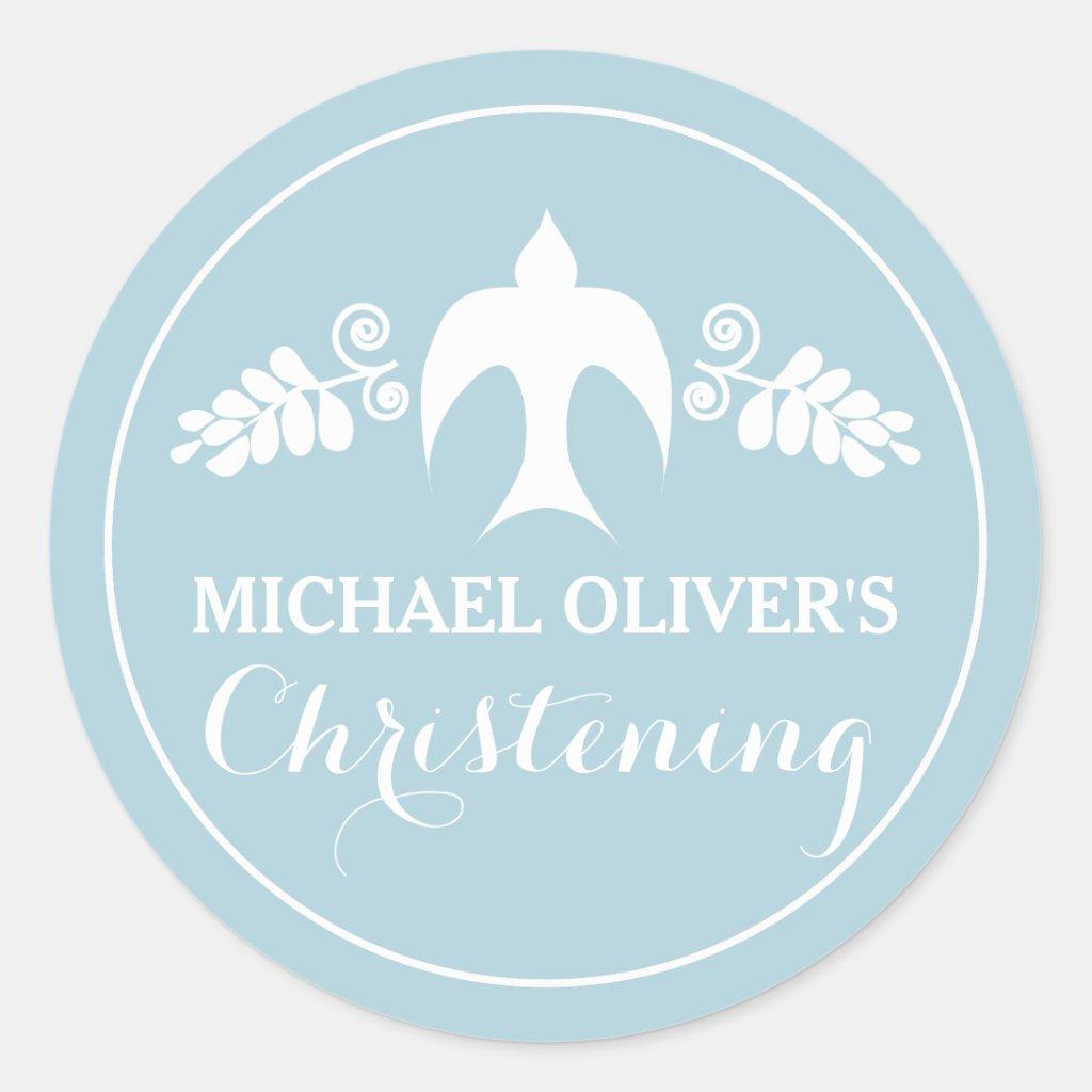 Christening Invitation Sticker
