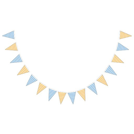 Blue Orange Stripe Festive Party Bunting