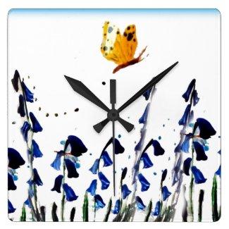 Bluebells butterfly floral art