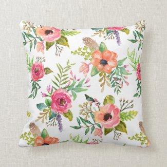 Bohemain Floral | Throw Pillow