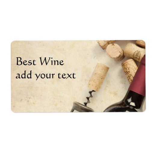 Bottle of Wine Label