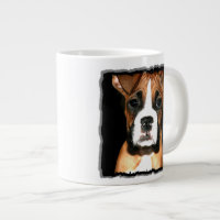 Boxer puppy dog giant coffee mug
