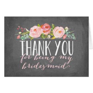 Bridesmaid Thank You | Bridesmaid Card
