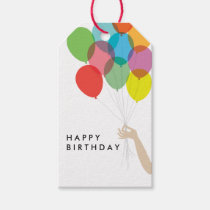 Bright Balloons Happy Birthday Gift Tags