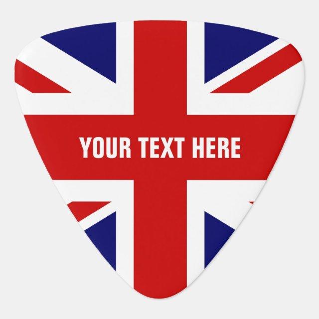 British flag guitar pick   Personalised Union Jack