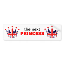 British Princess Crown Bumper Sticker