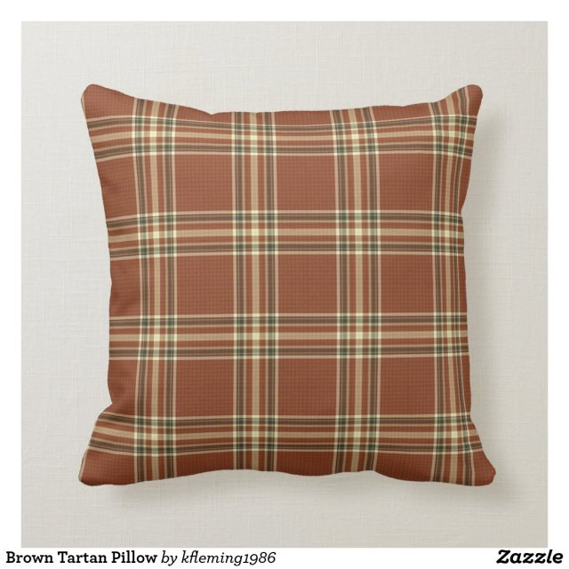 Brown Tartan Pillow
