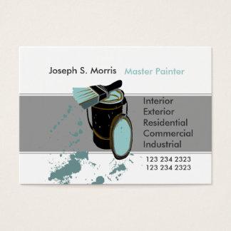 Bucket Brush Blue Paint Modern House Painter Business Card