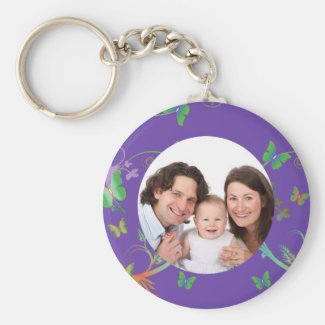 Butterfly/ Photo Keyring
