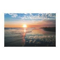 Canvas print - Sunset at Newport Beach, CA