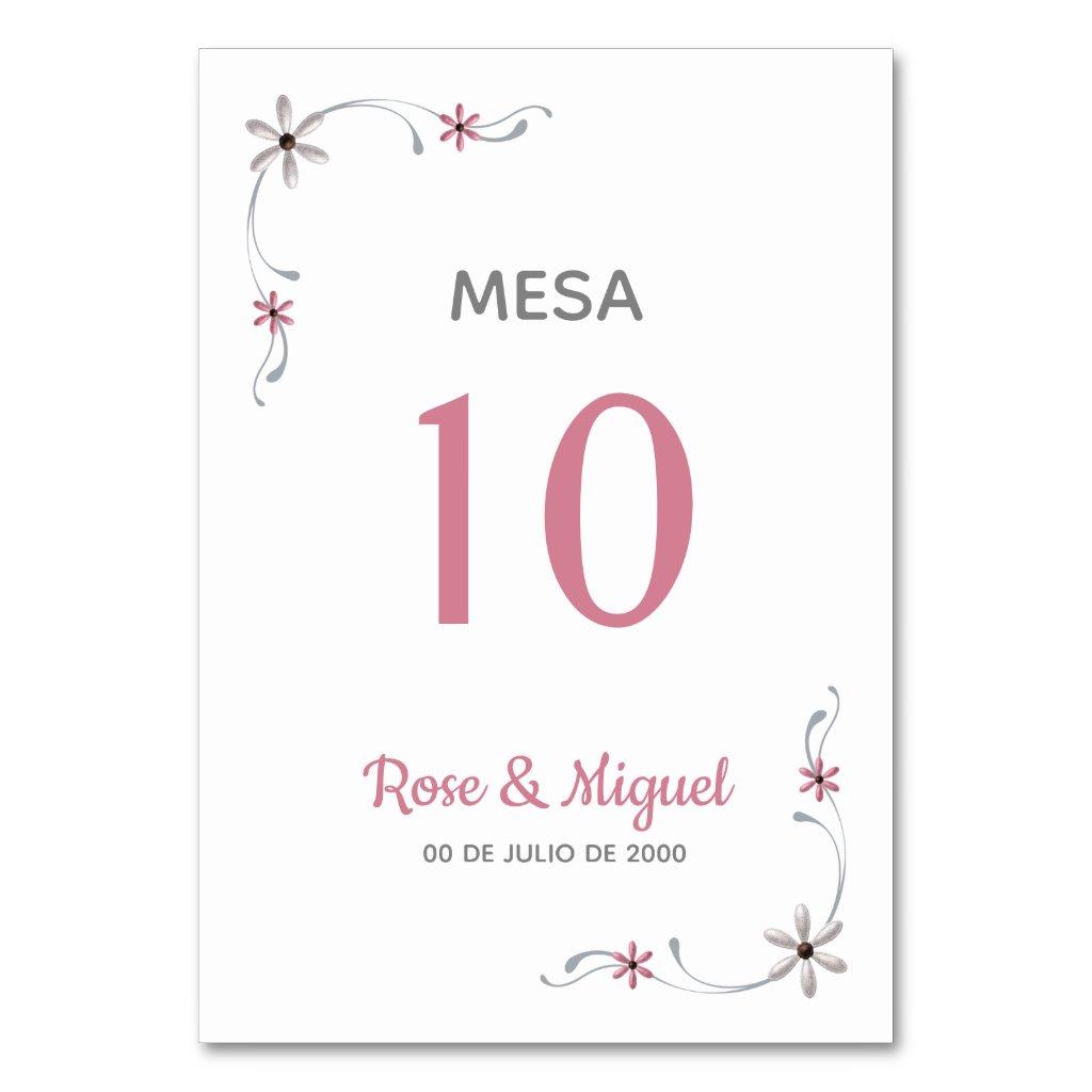 Card of seat, Basic - Pink Flower