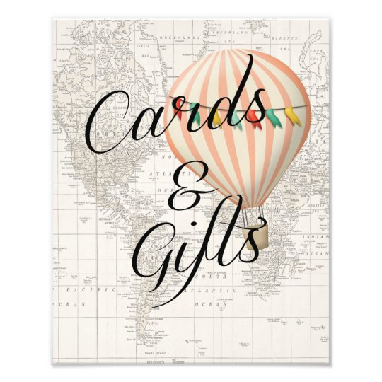 Cards And Gifts Sign Baby Shower Hot Air Balloon Zazzle Co Uk