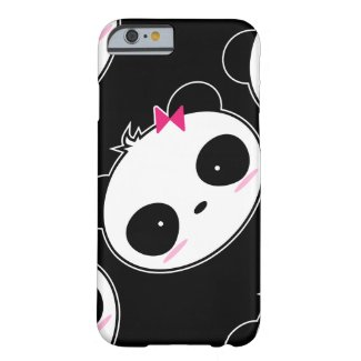 Cartoon Cute Girl Panda iPhone Case