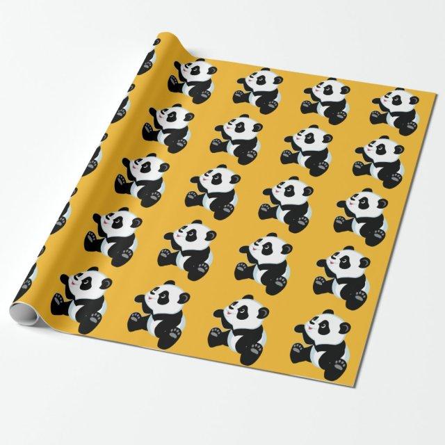 cartoon panda wrapping paper