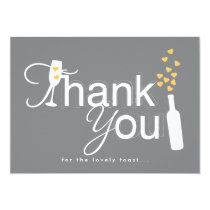 Champagne Engagement Party Thank You Note 4.5x6.25 Paper Invitation Card