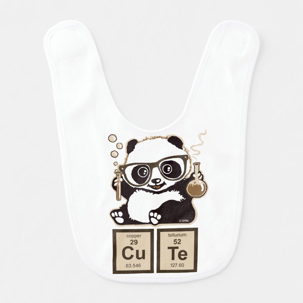 Chemistry panda Bib