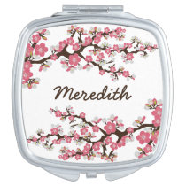 Cherry Blossoms Compact Mirror