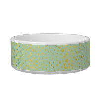 Chic mint faux gold glitter cheetah print monogram bowl