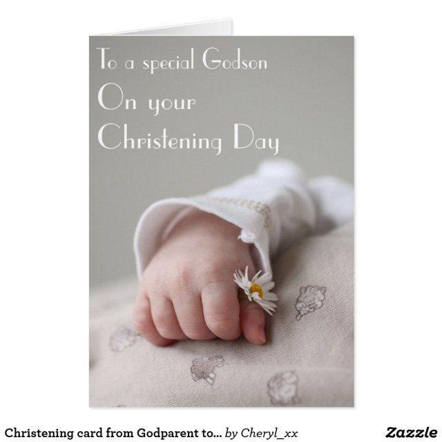 Christening card from Godparent to Godson