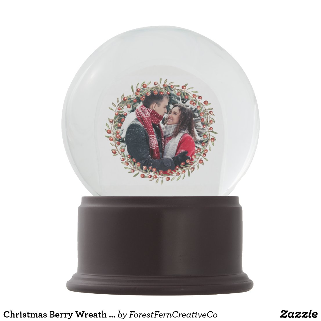 Christmas Berry Wreath & Floral | Snow Globe