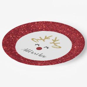 Christmas Deer paper plates