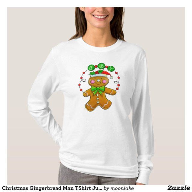 Christmas Gingerbread Man TShirt Jumper