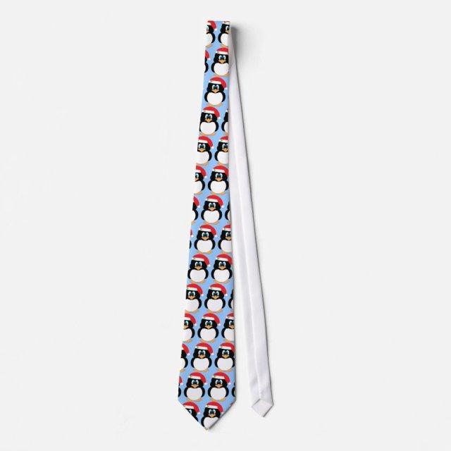 Christmas Penguin Neck Tie