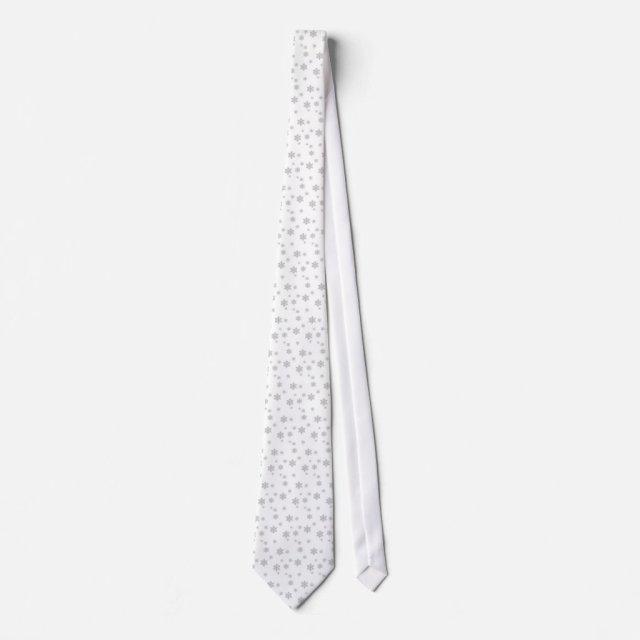 Christmas Snowflakes Tie