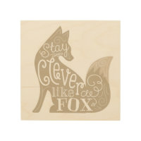 Clever like a Fox Wood Wall Art