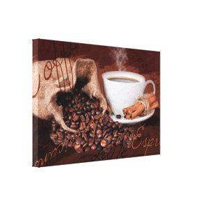 Coffee Aroma Watercolor Print Wall Art