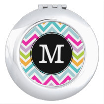 Chevron Monogram Compact Mirror