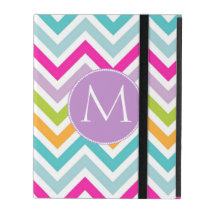 Chevron Monogram iPad Case
