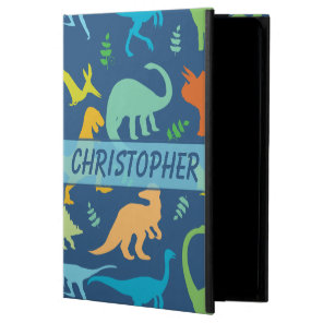 Colourful Dinosaur Pattern to Personalise Powis iPad Air 2 Case