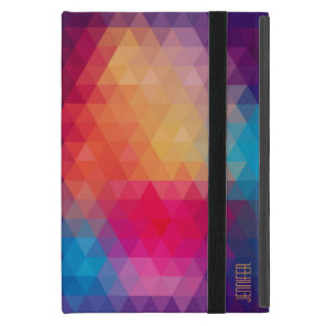 Colourful Modern Mosaic Geometric Pattern iPad Mini Cover