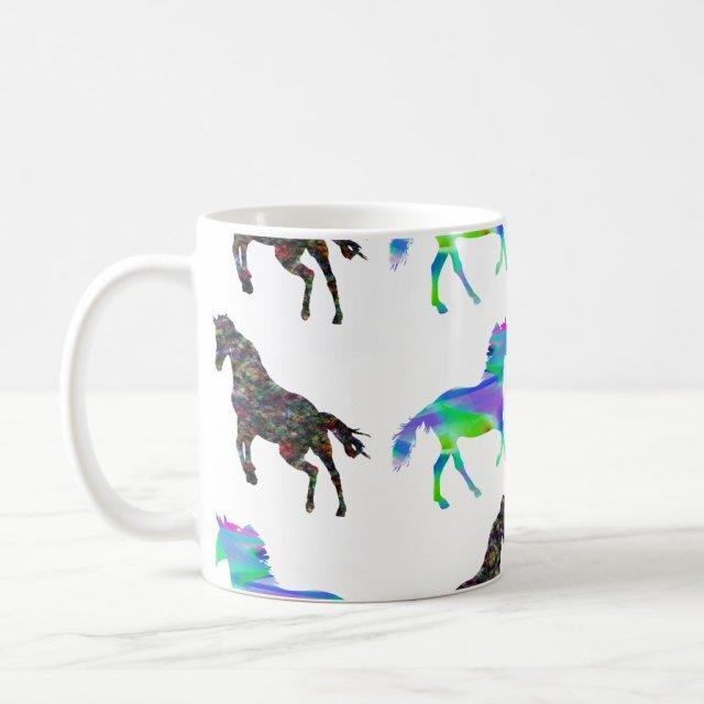 Colourful unicorns mug