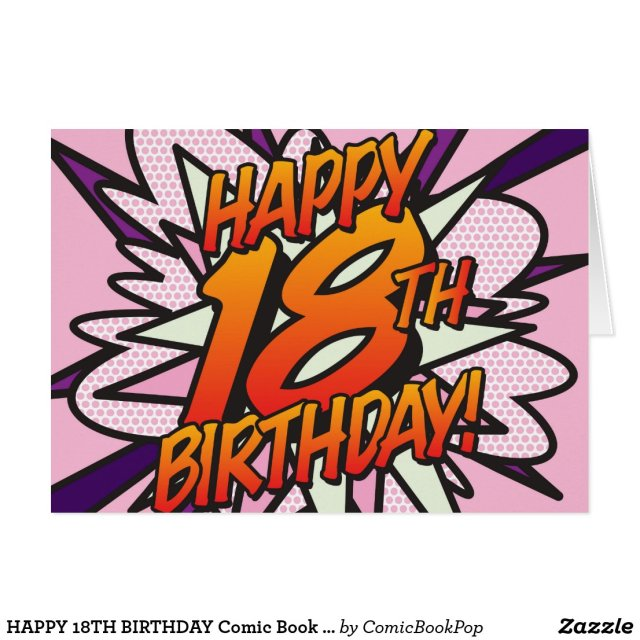 Comic Book HAPPY 18TH BIRTHDAY! Card