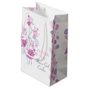 Confetti petals wedding flower girl favour gift small gift bag