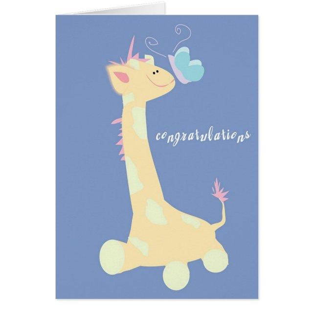 Congratulations (Baby Giraffe / Butterfly)