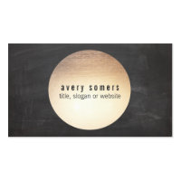 Cool DJ Gold Circle Chalkboard Modern Business Card